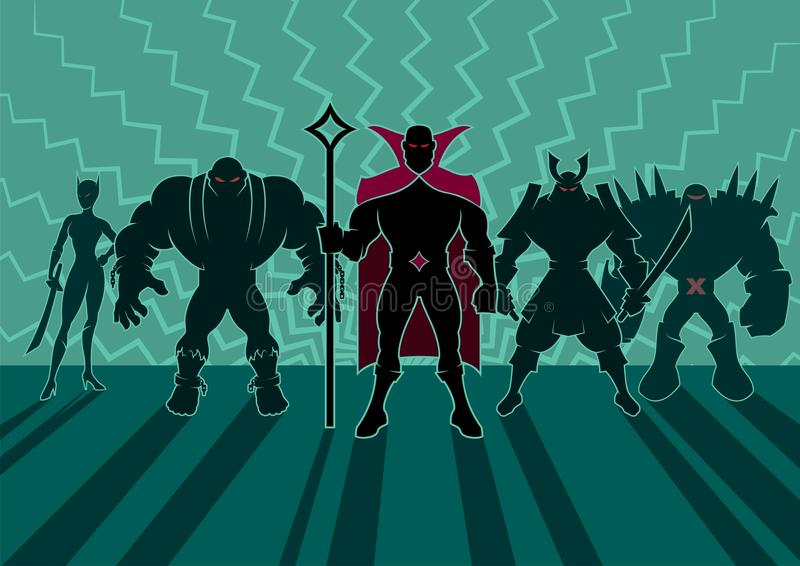 Equipo del Supervillain libre illustration
