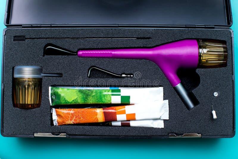 Equipo dental del pulidor del motor micro imagen de archivo libre de regalías