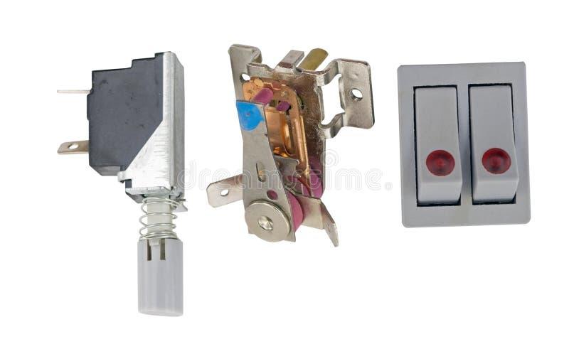 Equipo eléctrico en blanco fotos de archivo