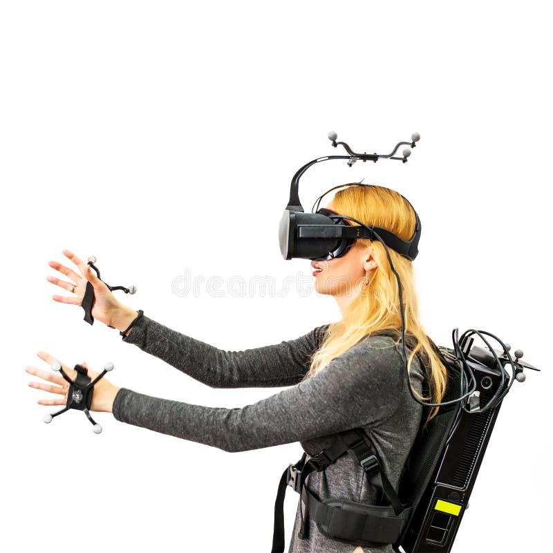 Equipo estándar en el club de la realidad virtual imagen de archivo libre de regalías