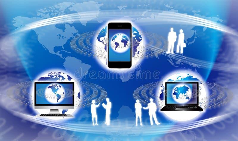 Equipo global de la tecnología ilustración del vector