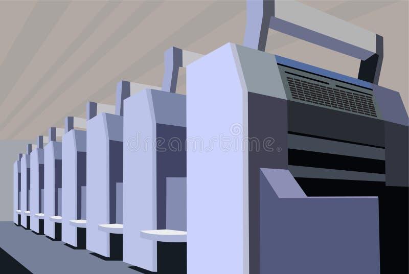 Equipo impreso vector ilustración del vector