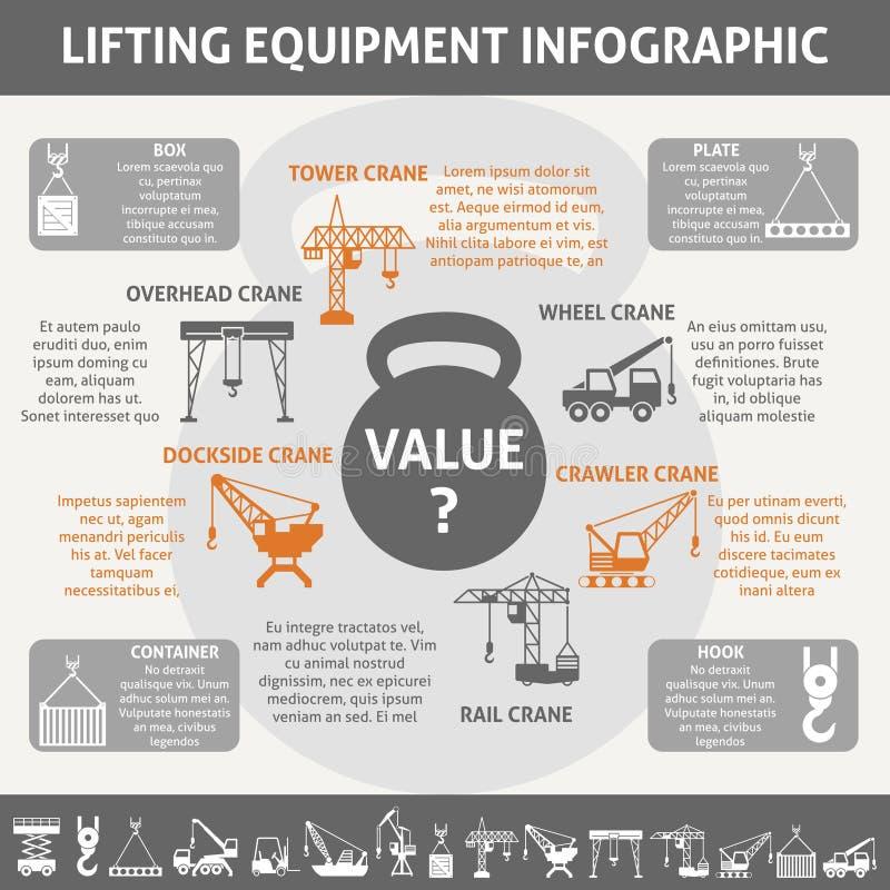 Equipo industrial infographic stock de ilustración