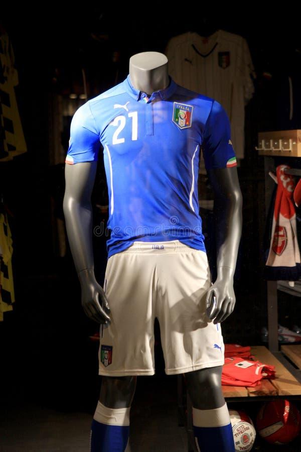 Equipo italiano del fútbol imágenes de archivo libres de regalías