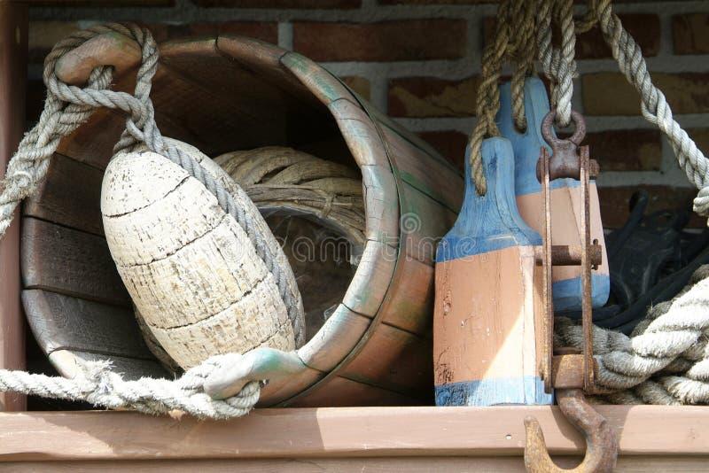 Equipo marítimo viejo fotografía de archivo libre de regalías