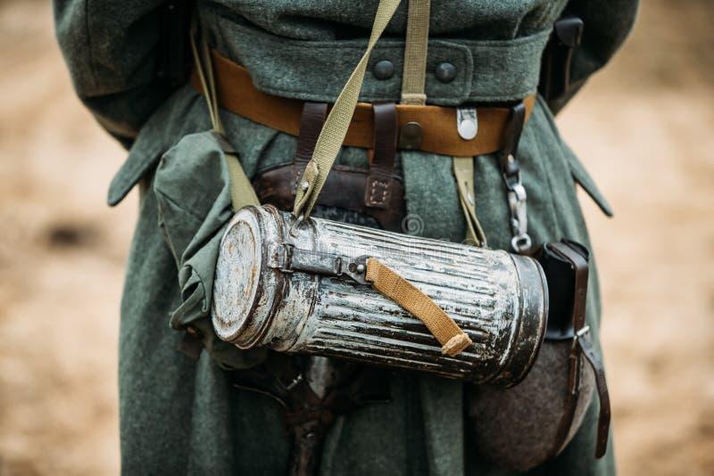 Equipo militar del ` s del soldado de la infantería de Wehrmacht del alemán del mundo foto de archivo libre de regalías