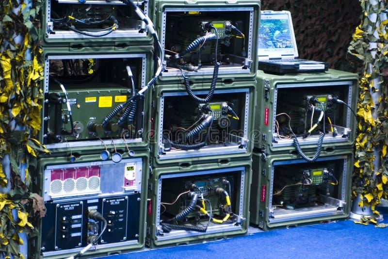 Equipo militar electrónico imágenes de archivo libres de regalías