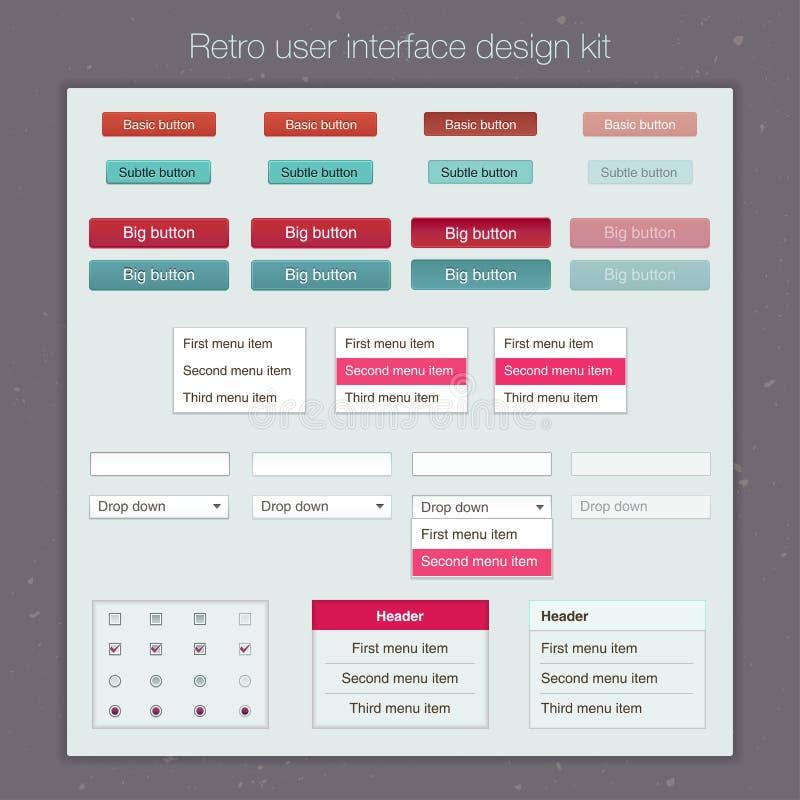 Equipo moderno de la plantilla de la pantalla de la interfaz de usuario para stock de ilustración
