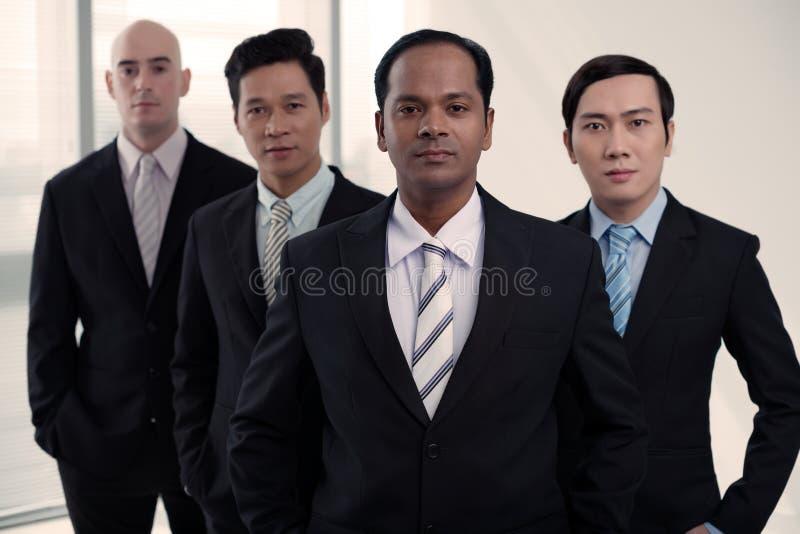 equipo Multi-étnico del negocio foto de archivo