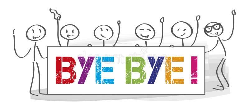 Equipo que dice adiós - ejemplo libre illustration