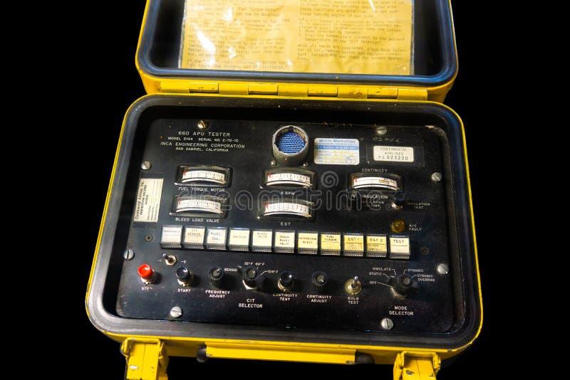 Equipo técnico mecánico de la aviación foto de archivo libre de regalías