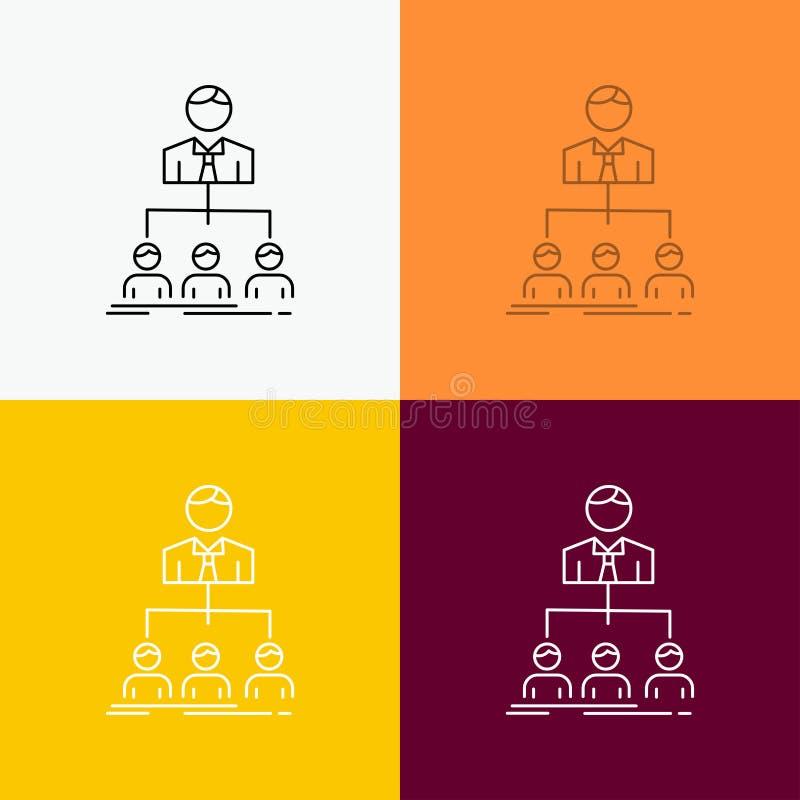 equipo, trabajo en equipo, organización, grupo, icono de la compañía sobre diverso fondo L?nea dise?o del estilo, dise?ado para l libre illustration