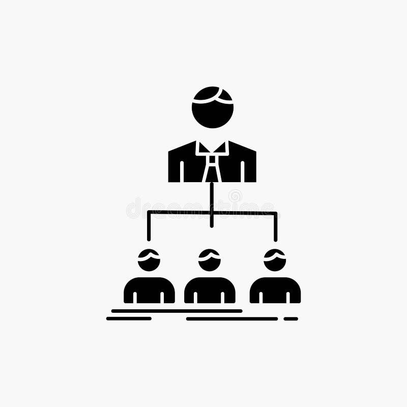 equipo, trabajo en equipo, organización, grupo, icono del Glyph de la compañía Ejemplo aislado vector ilustración del vector