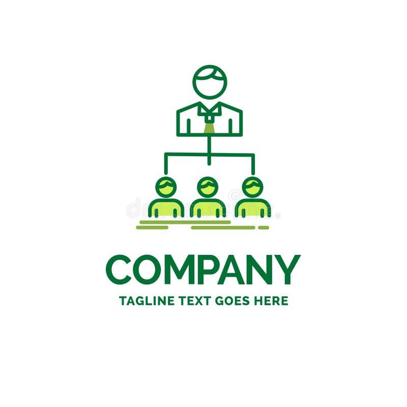 equipo, trabajo en equipo, organización, grupo, logotipo plano del negocio de la compañía stock de ilustración