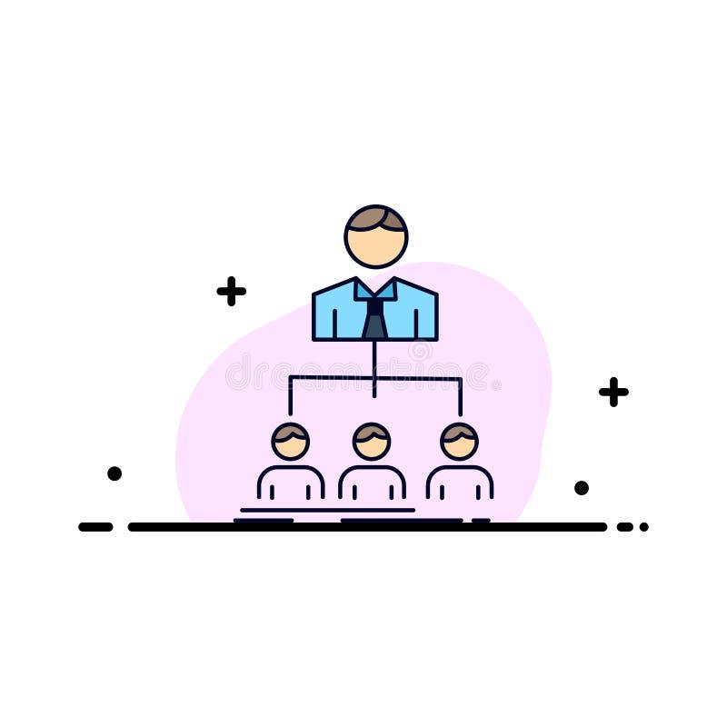 equipo, trabajo en equipo, organización, grupo, vector plano del icono del color de la compañía libre illustration