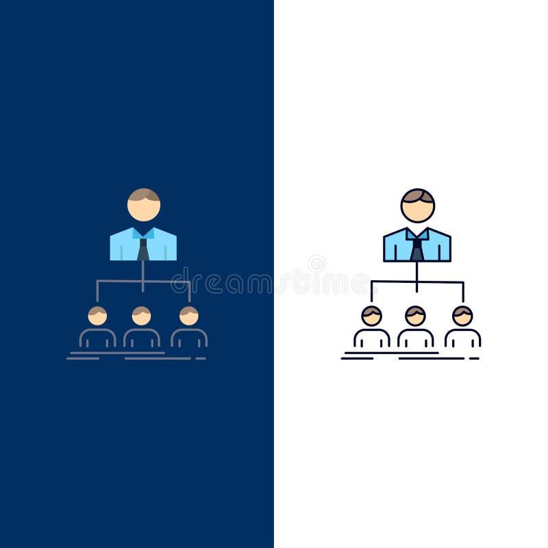 equipo, trabajo en equipo, organización, grupo, vector plano del icono del color de la compañía ilustración del vector