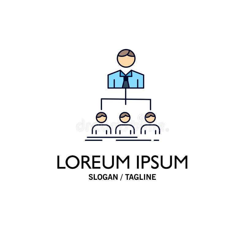 equipo, trabajo en equipo, organización, grupo, vector plano del icono del color de la compañía stock de ilustración