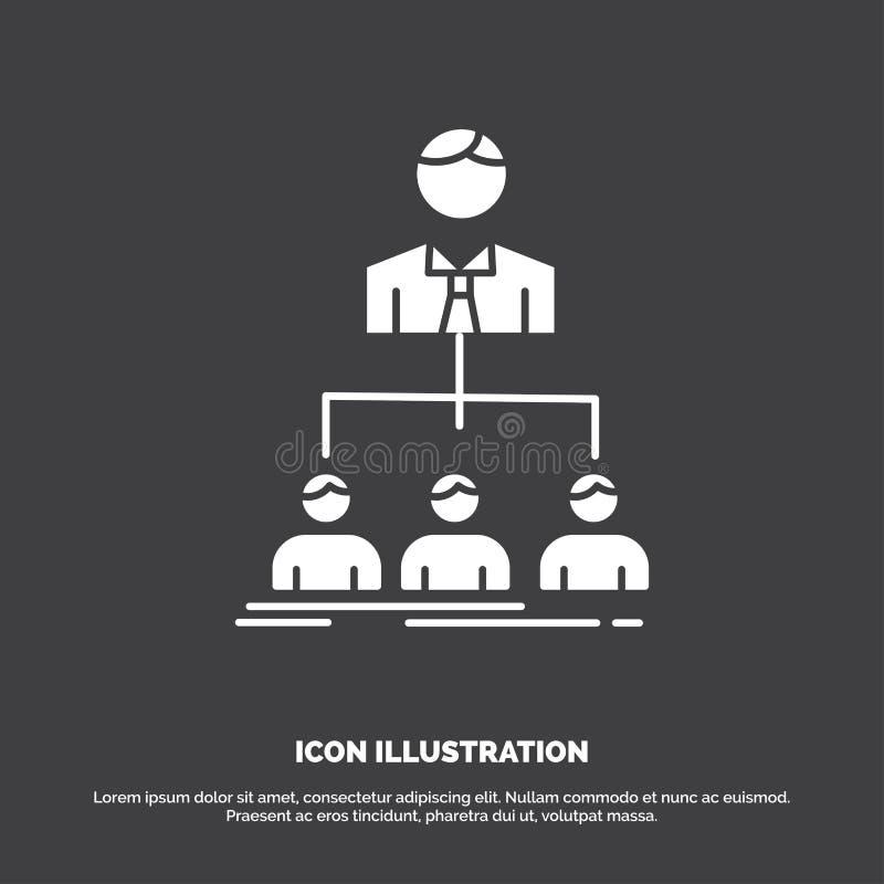 equipo, trabajo en equipo, organizaci?n, grupo, icono de la compa??a s?mbolo del vector del glyph para UI y UX, p?gina web o apli libre illustration