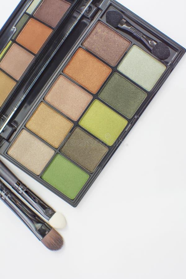 Equipo verde de las sombras de ojos del tono imagen de archivo libre de regalías