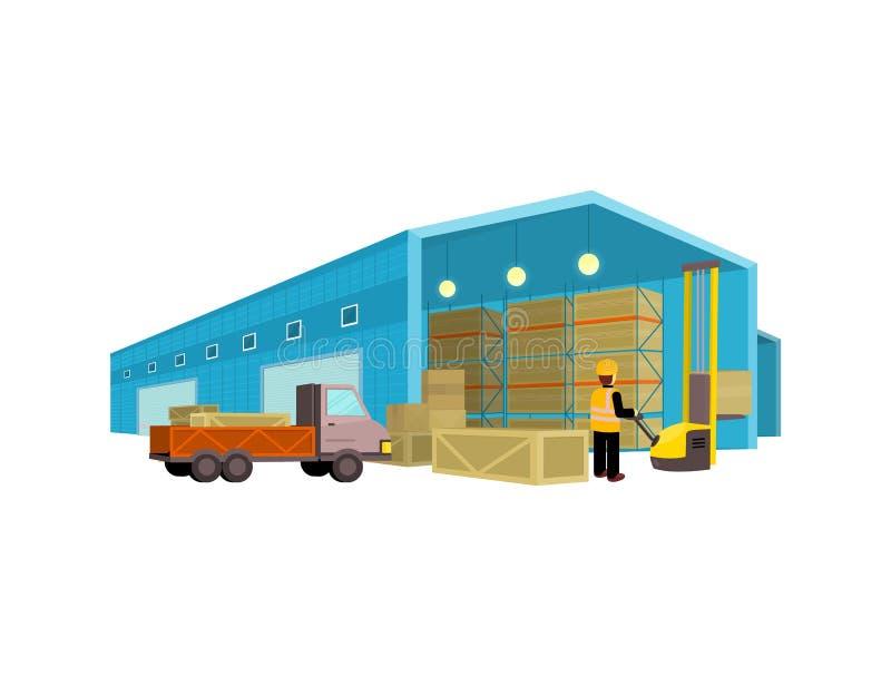 Equipo Warehouse de Ddelivery ilustración del vector