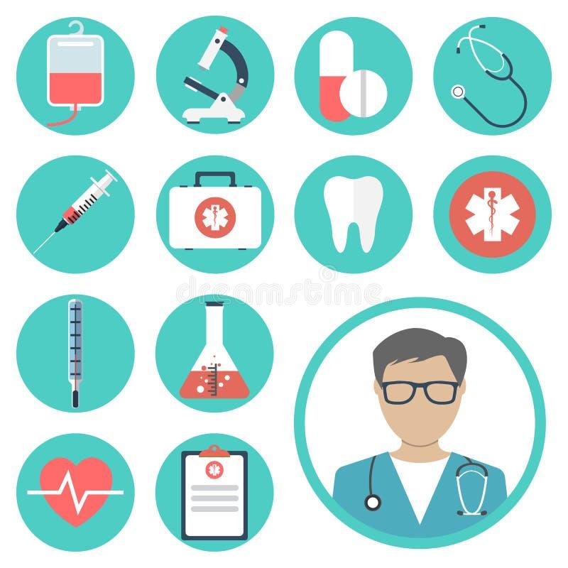 equipos médicos, herramientas stock de ilustración