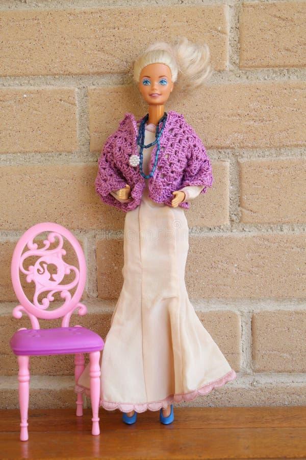 Equipos 80s y 90s de una de Barbie pizca vieja de la muñeca imagen de archivo libre de regalías