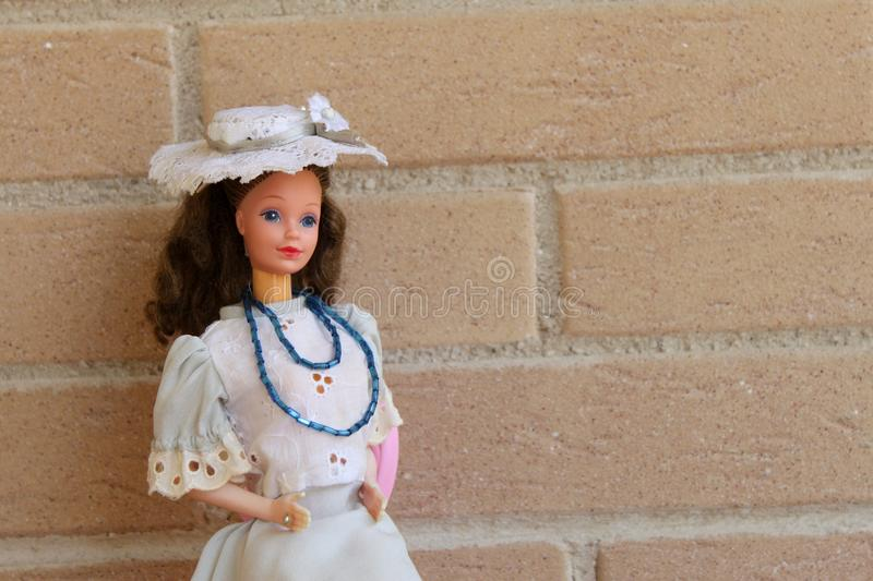 Equipos 80s y 90s de una de Barbie pizca vieja de la muñeca fotos de archivo libres de regalías