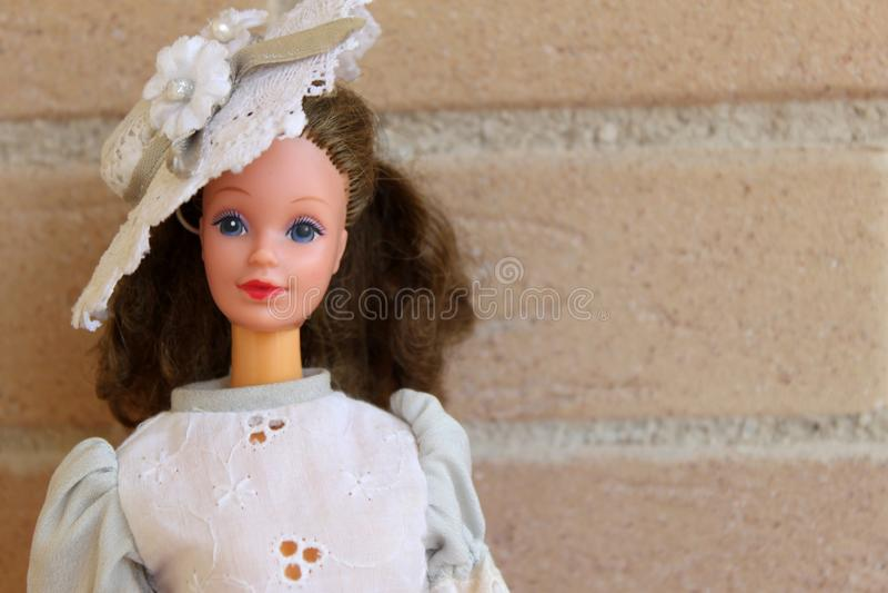 Equipos 80s y 90s de una de Barbie pizca vieja de la muñeca foto de archivo