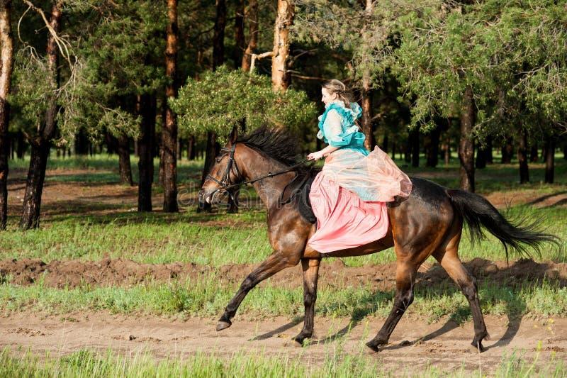 Equitação da amazona imagem de stock