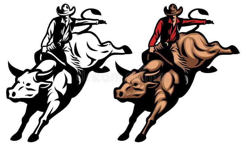 Equitação de Bull ilustração do vetor