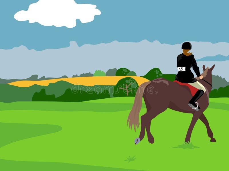 Equitação de cavalo ilustração royalty free