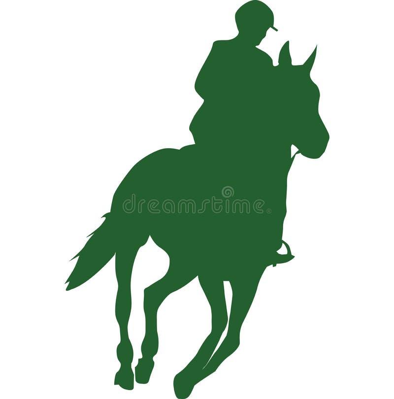 Equitação de cavalo fotografia de stock