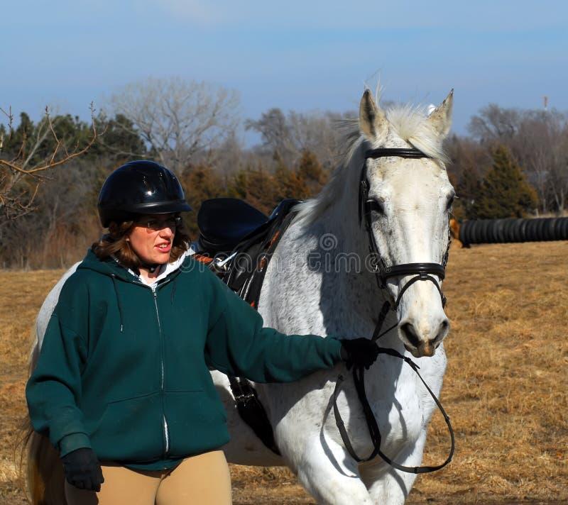 Equitação de Horseback imagem de stock