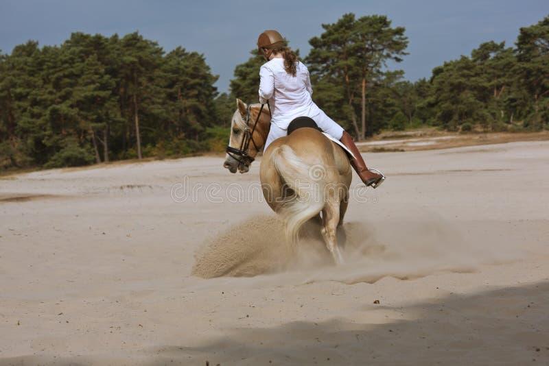 Equitación en las dunas fotos de archivo