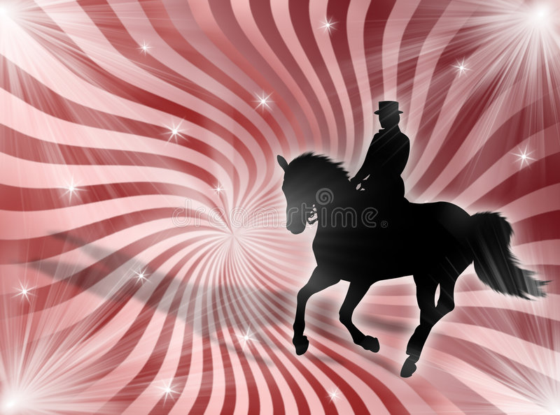 Equitation in the lights stock images