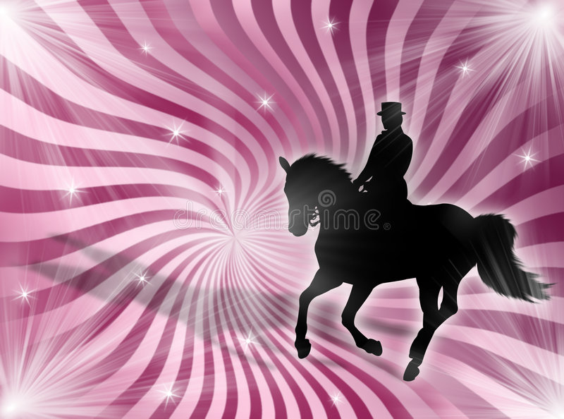 Equitation in the lights royalty free stock photography