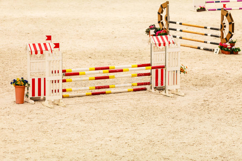 equitation Ostacolo per i cavalli di salto fotografie stock