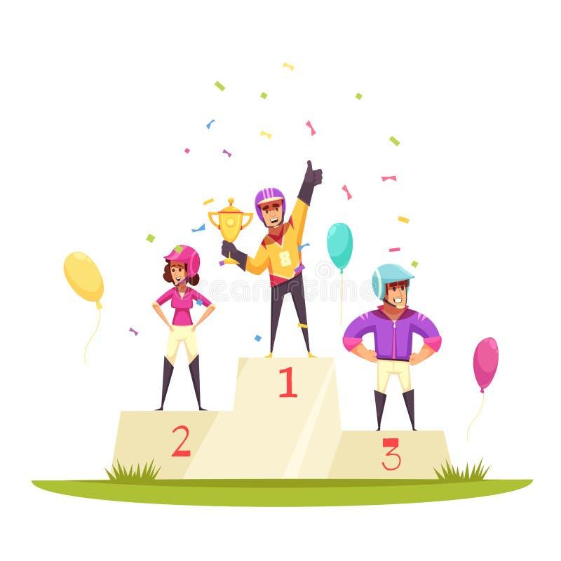 Equites Victory Podium Composition illustrazione di stock