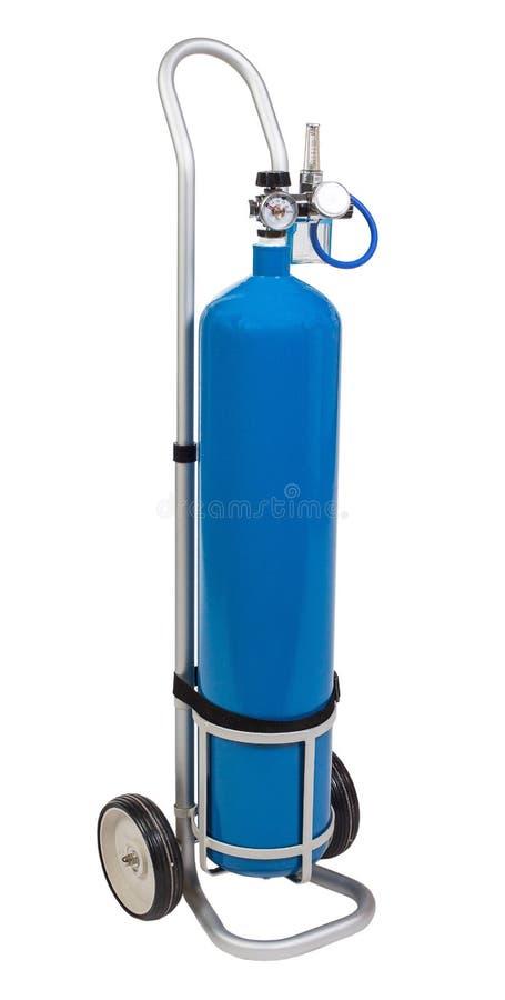 Equpment especial médico: ballon com oxigênio imagem de stock royalty free