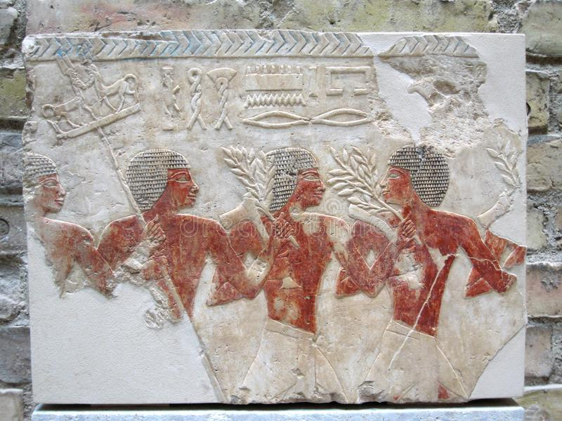Ancient Egyptian Stone Carvings stock photo