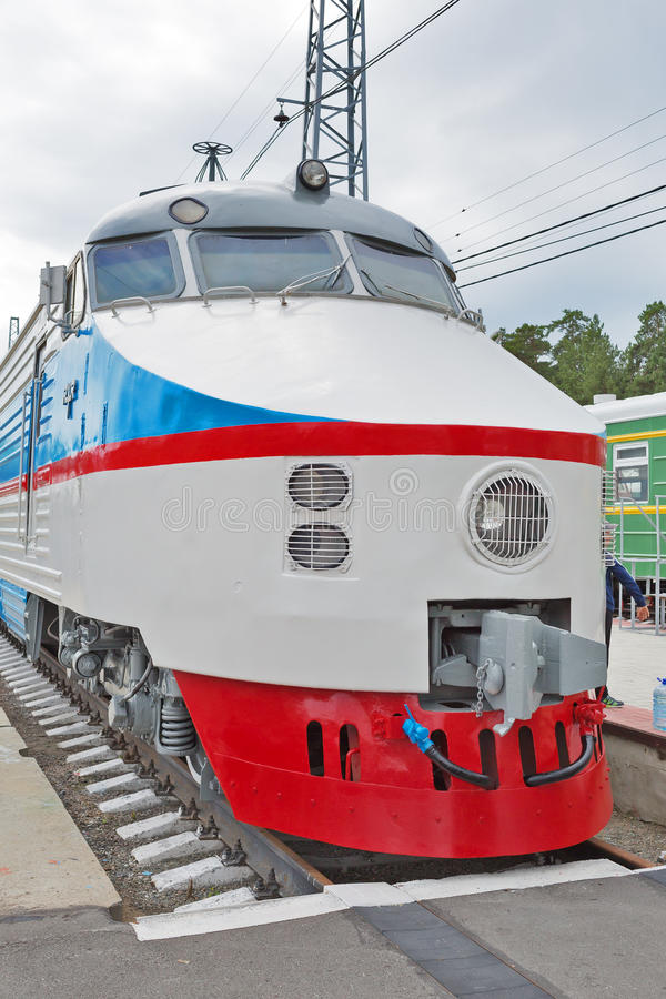 Free ER 200 Soviet High-speed Train DC. Novosibirsk Museum Of Railway Stock Images - 96207464