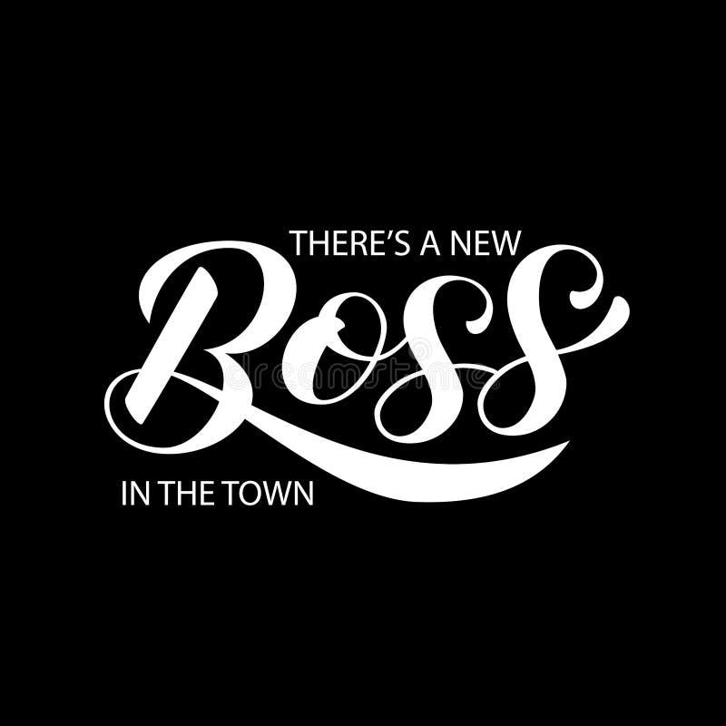 Er is een nieuwe Werkgever in stad het van letters voorzien Citaat voor kleren, banner Vector illustratie vector illustratie