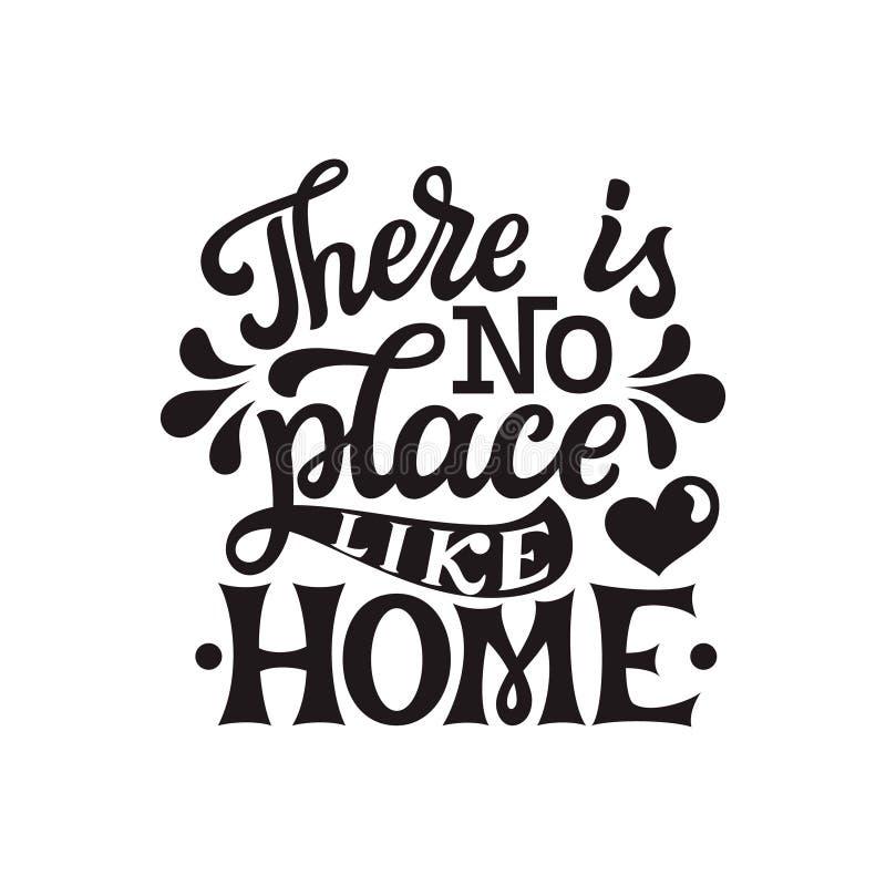 Er is geen plaats zoals huis royalty-vrije illustratie