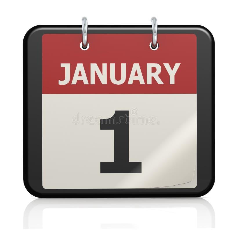 1er janvier calendrier de jour de l 39 an illustration stock illustration du jour d but 40603636 - Dates des soldes janvier 2015 ...