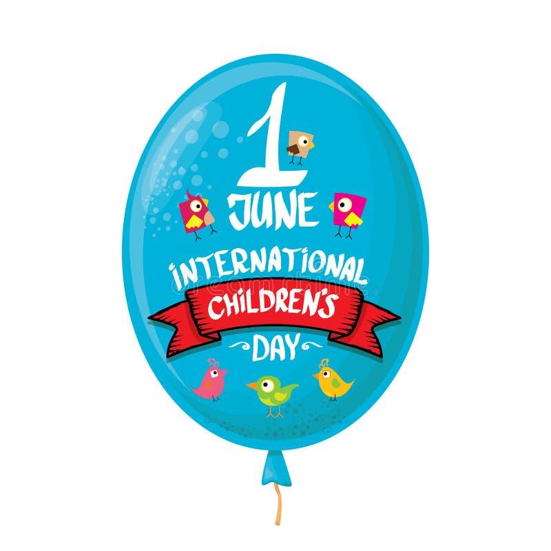 1er juin fond du jour des enfants internationaux carte de voeux heureuse de jour d'enfants badine l'affiche de jour illustration de vecteur