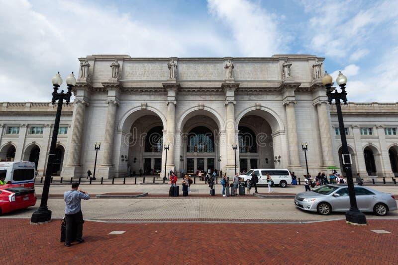 1er juin 2018 - Washington DC, Etats-Unis : Extérieur de Washington Union Station photographie stock