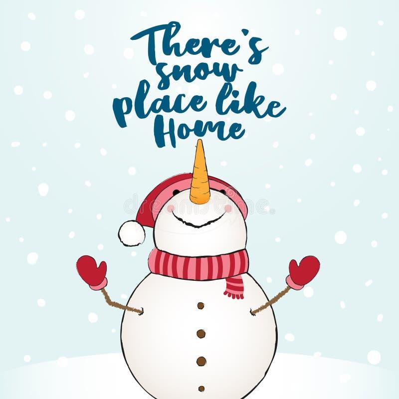 Er is sneeuwplaats zoals huis stock illustratie
