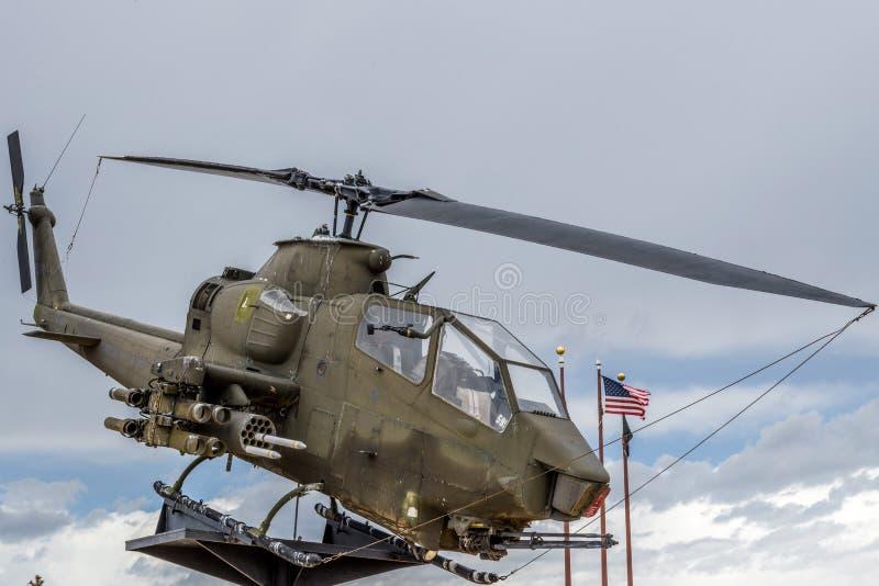 Era de Vietnam del helicóptero de Apache imágenes de archivo libres de regalías