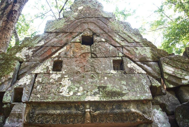 Era di Angkor del tempio della screpolatura di Prasat Kra immagini stock