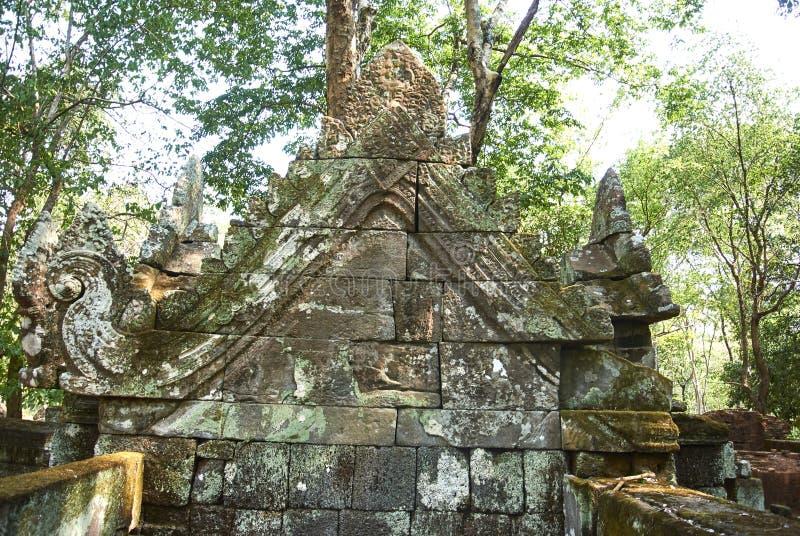 Era di Angkor del tempio della screpolatura di Prasat Kra fotografia stock